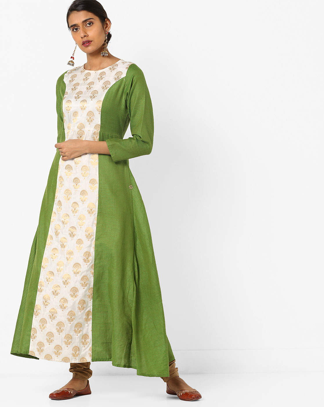brocade-green-kurta-for-wedding