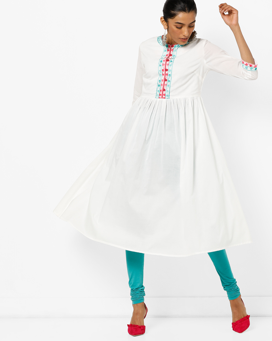 casual-white-anarkali