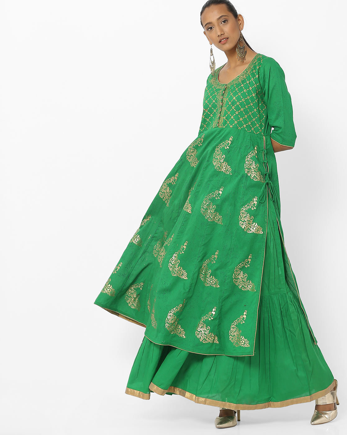 dark-green-anarkali-kurti