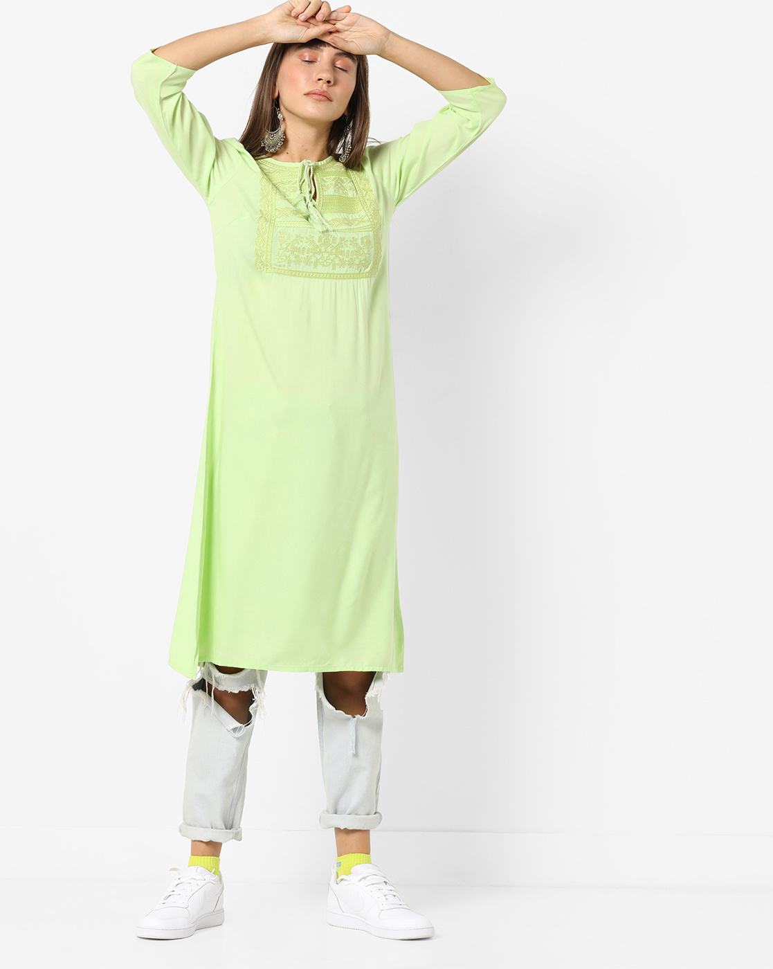 light-green-kurti
