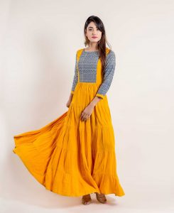 plain floor length kurti for eid