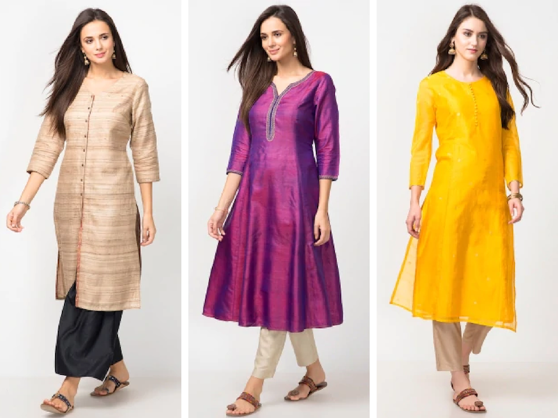 Casual Silk Kurti Designs