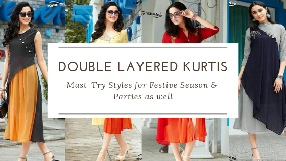 Party wear Double Layered kurtis