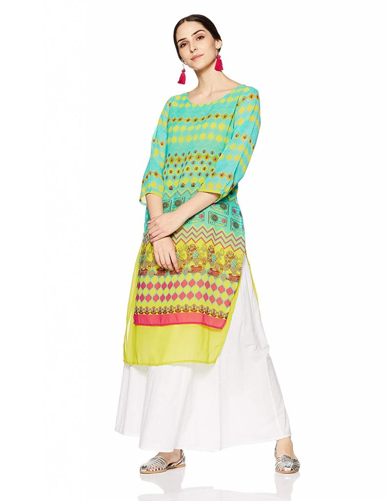 casual straight georgette kurti