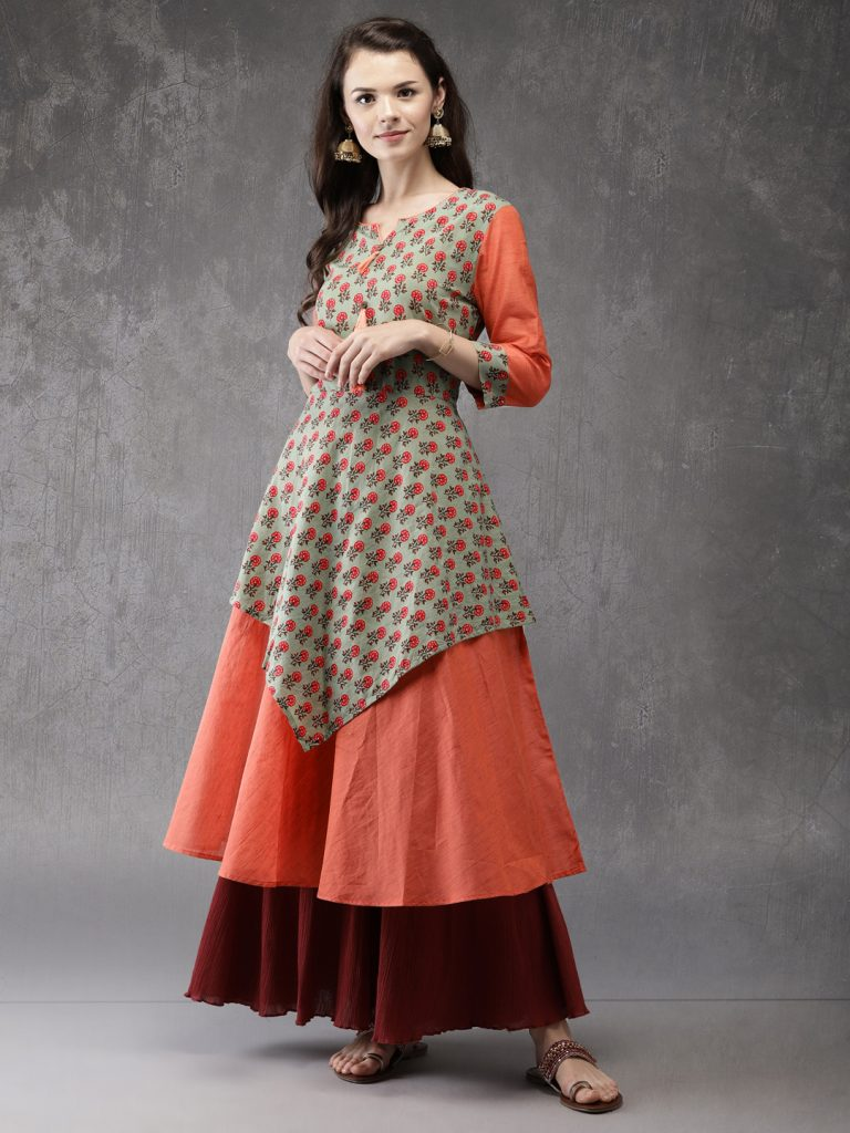 middle layer double layer kurta