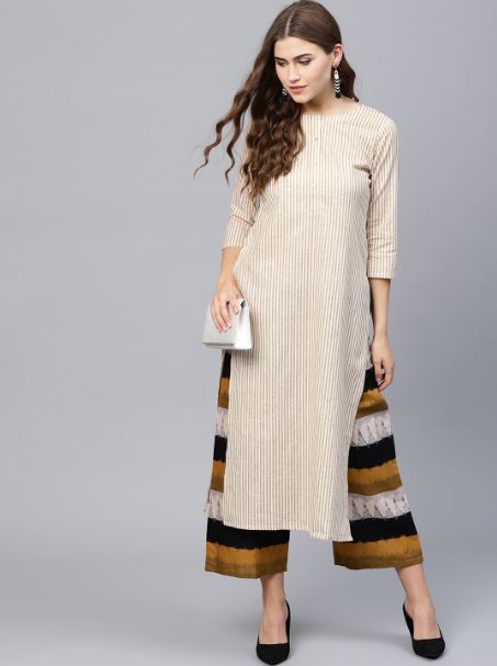 narrow plazzo with long kurti