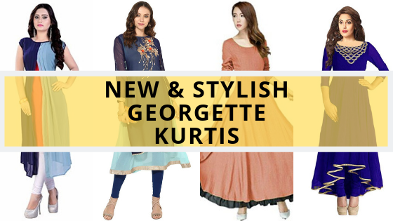 new and stylish georgette kurtis