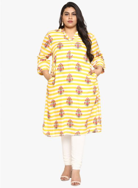 pocket kurti in printed design