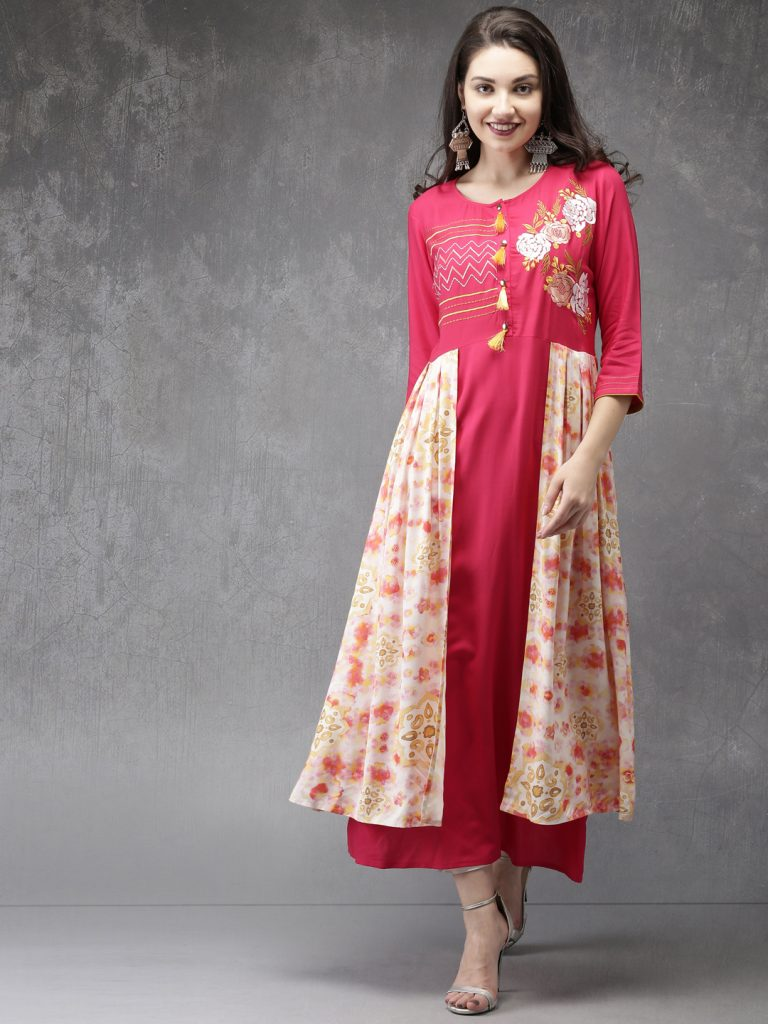 side layer Long kurta