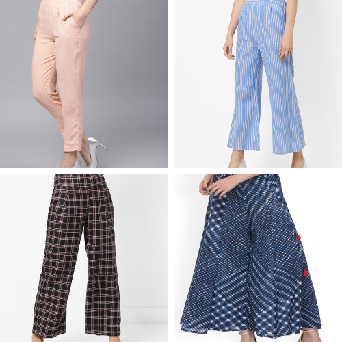 types of pants for kurti