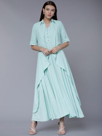 Blue Wedding Jacket Kurti