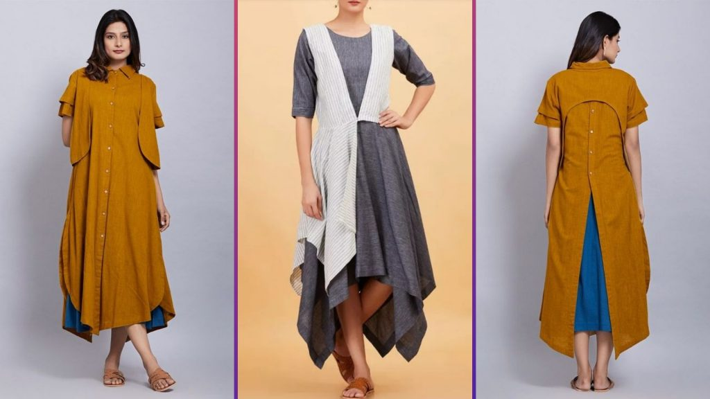 Asymmetric Kurti designs for girls