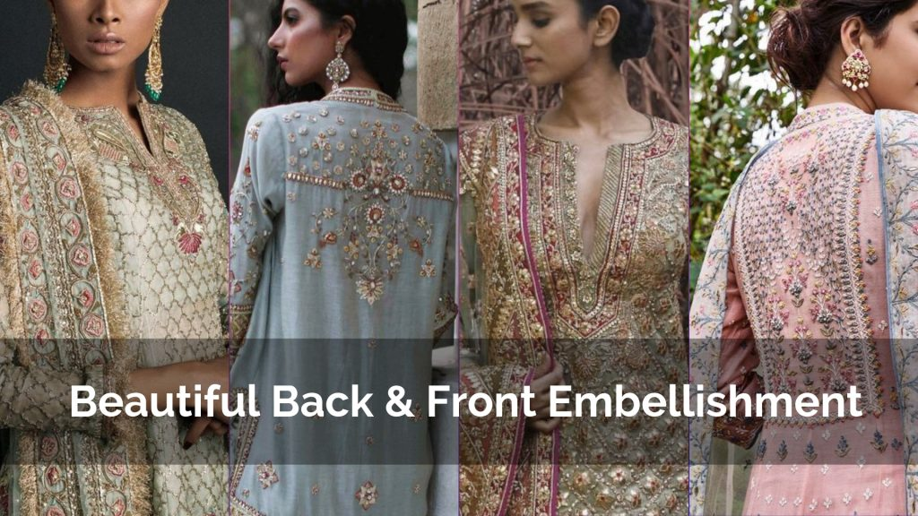 Beautiful Back & Front Embellishment Party wear Kurtis Design