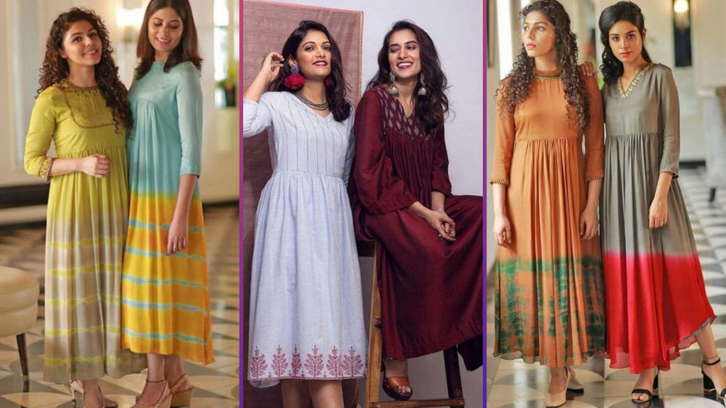 Long Flared Kurti for College
