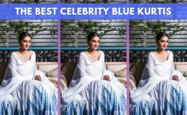 Celebrity Blue Kurti Designs
